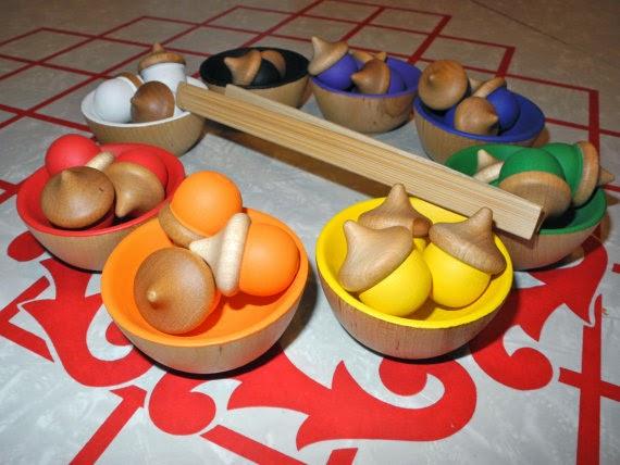 acorn sorting toy