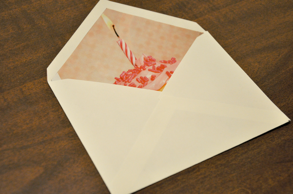 Diy homemade envelope liners darkroom and dearly for Homemade envelopes