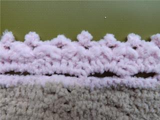 Puntilla para manta de bebé de crochet
