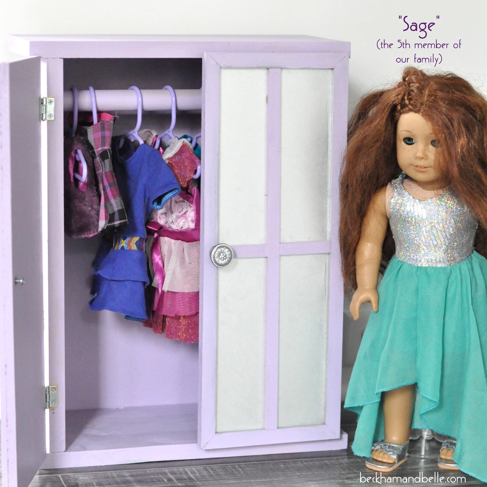 Diy closet armoire for american girl dolls beckham belle supplies solutioingenieria Images