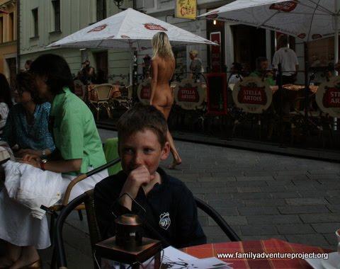 Naked in Bratislava