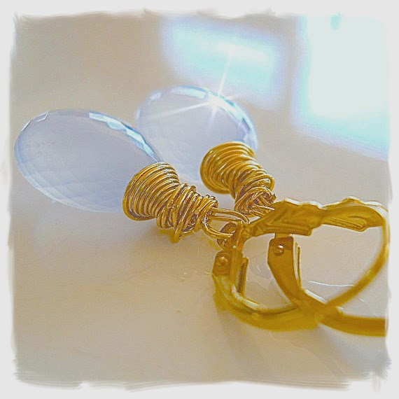 Pastel Periwinkle Gemstone Earrings YourDailyJewels.com
