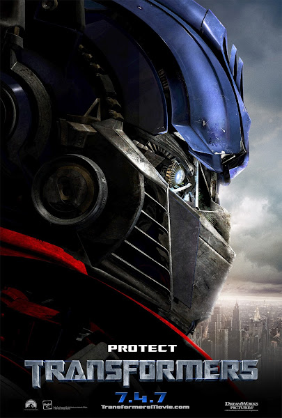 Poster Of Transformers 2007 720p Hindi BRRip Dual Audio Full Movie