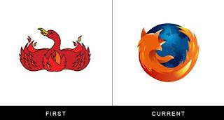 évolution du logo firefox