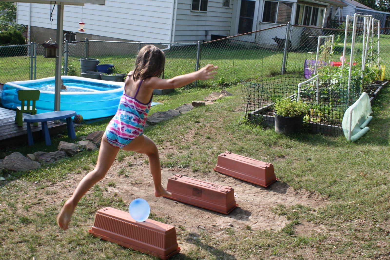 pencils proverbs pandemonium pins backyard obstacle course