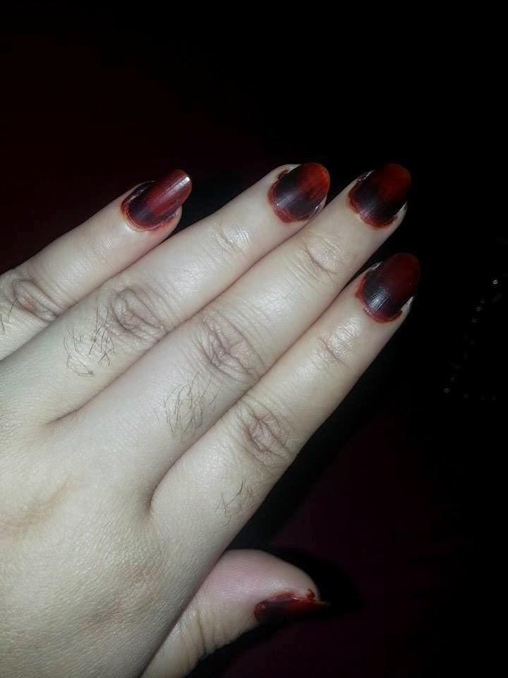 Dark Black Maroon Henna Nail Polish Zana Manzana Manzana Dark