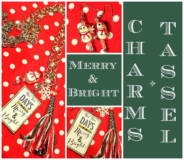 Christmas Necklace with charms plus tassel.