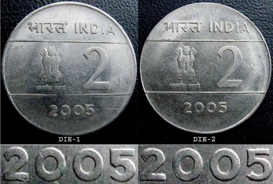 Nickel-Bronze Noida Mint Bi Metallic Cross Coin India Rs 10 SCARCE 2005