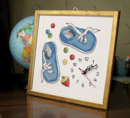 """Часики для детской """"Башмачки"""", Clock Shoes"""