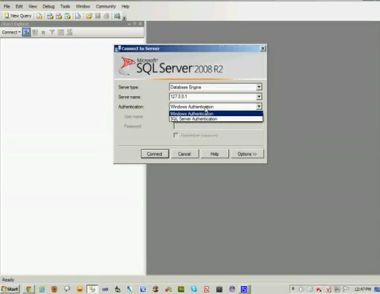 Tạo user login trong MS SQL Server 2008