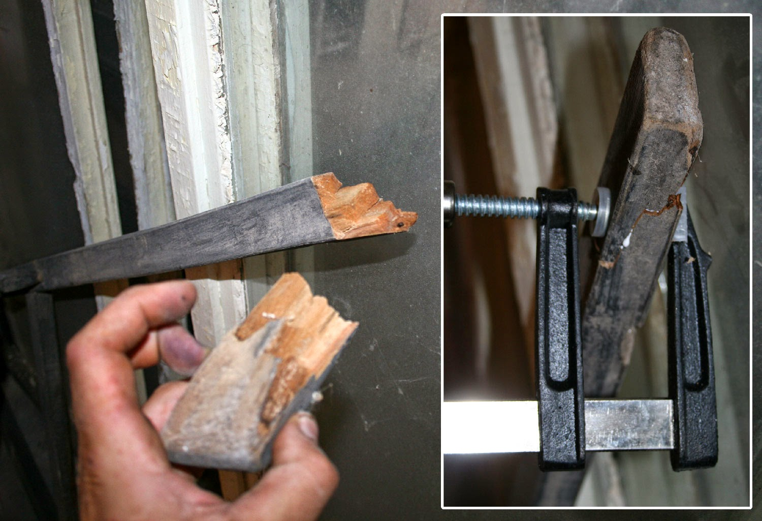 Wood glue and clamps