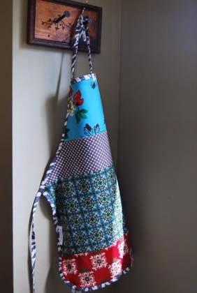 como fazer avental em patchwork