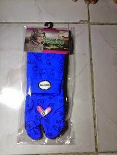 Kaos Kaki Muslimah Jempol Batik Warna Biru