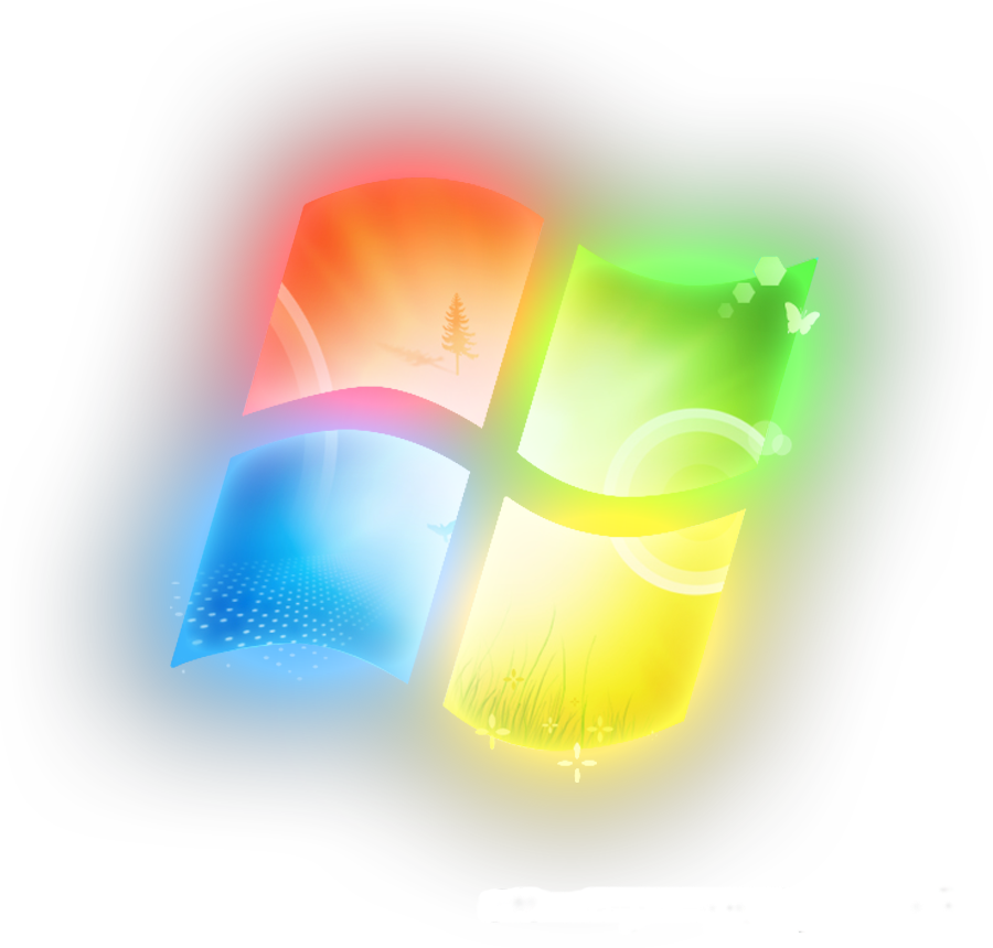 Microsoft Windows Glowing Logo Wallpaper