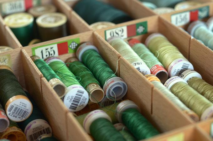 Maryandpatch bobines de fils vert
