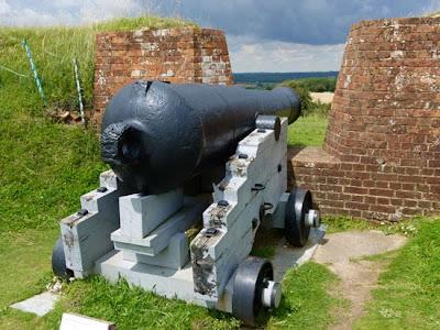 Fort Nelson, 68 pounder gun, Palmerston's follies, Portsmouth, Portsdown Forts, Britain