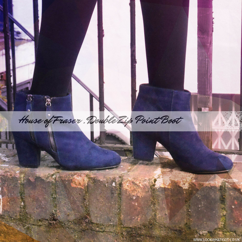 HOUSE OF FRASER DOUBLE ZIP ANKLE BOOTS