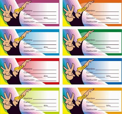 etiquetas de johnny bravo para pegar en los cuadernos