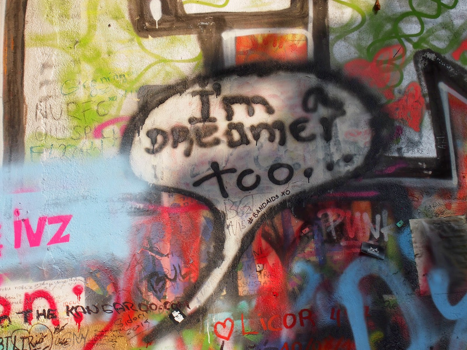 I'm a dreamer too on the Lennon Wall