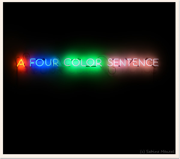 Psynopsis A Four Colour Sentence by Joseph Kosuth