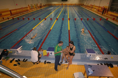 Swimming pool in water-training complex