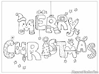 Mewarnai kartu Ucapan Natal 2013