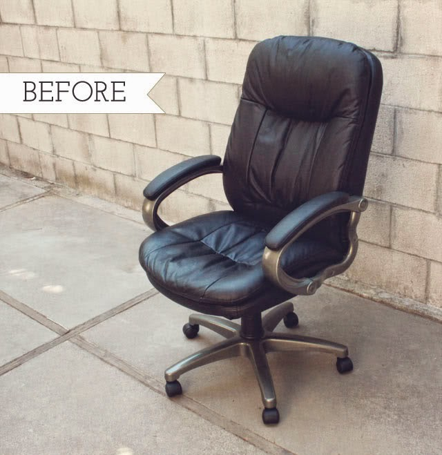 office chair reupholstery. Wonderful Reupholstery Before Chair Makeover And Office Reupholstery E