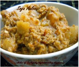 soya and potato gravy dish | healthy recipe