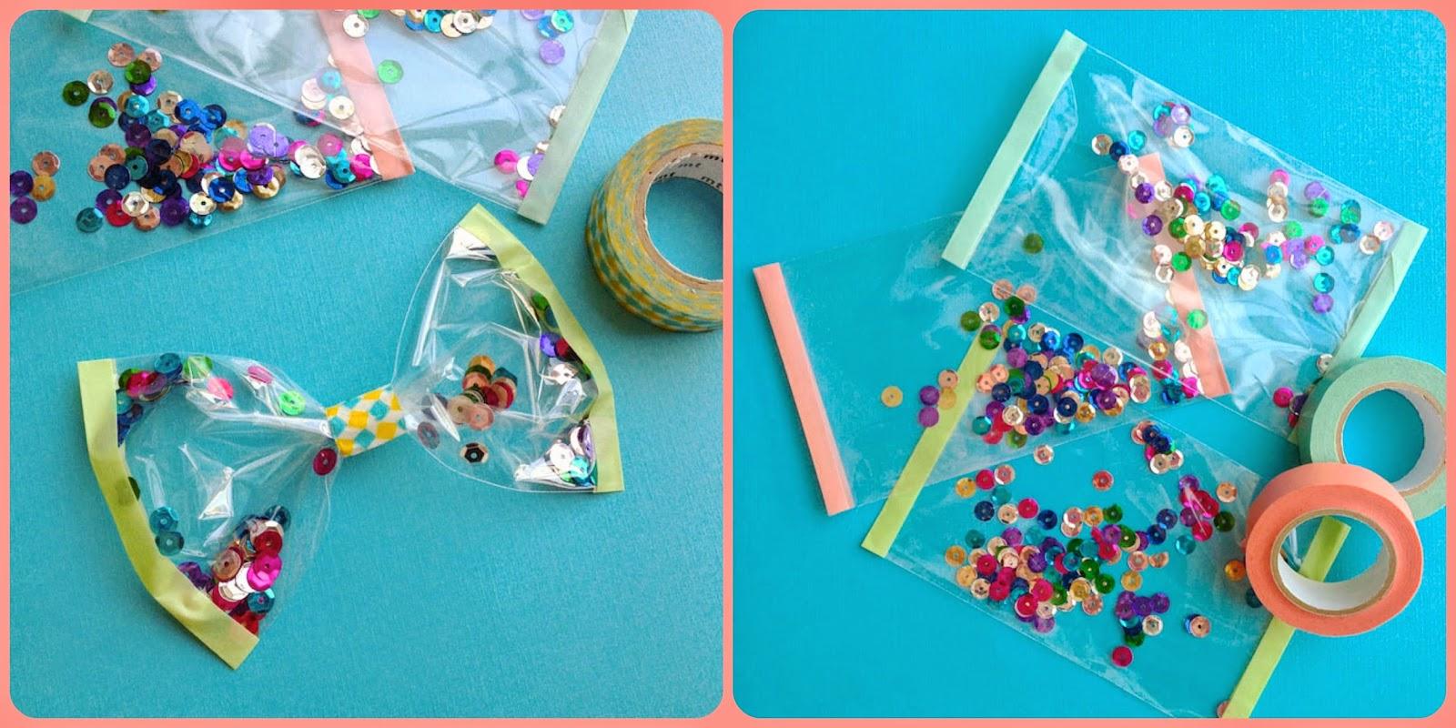 Lazos con confetti