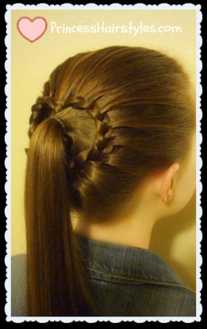 Valentine's Style, lace braid heart ponytail
