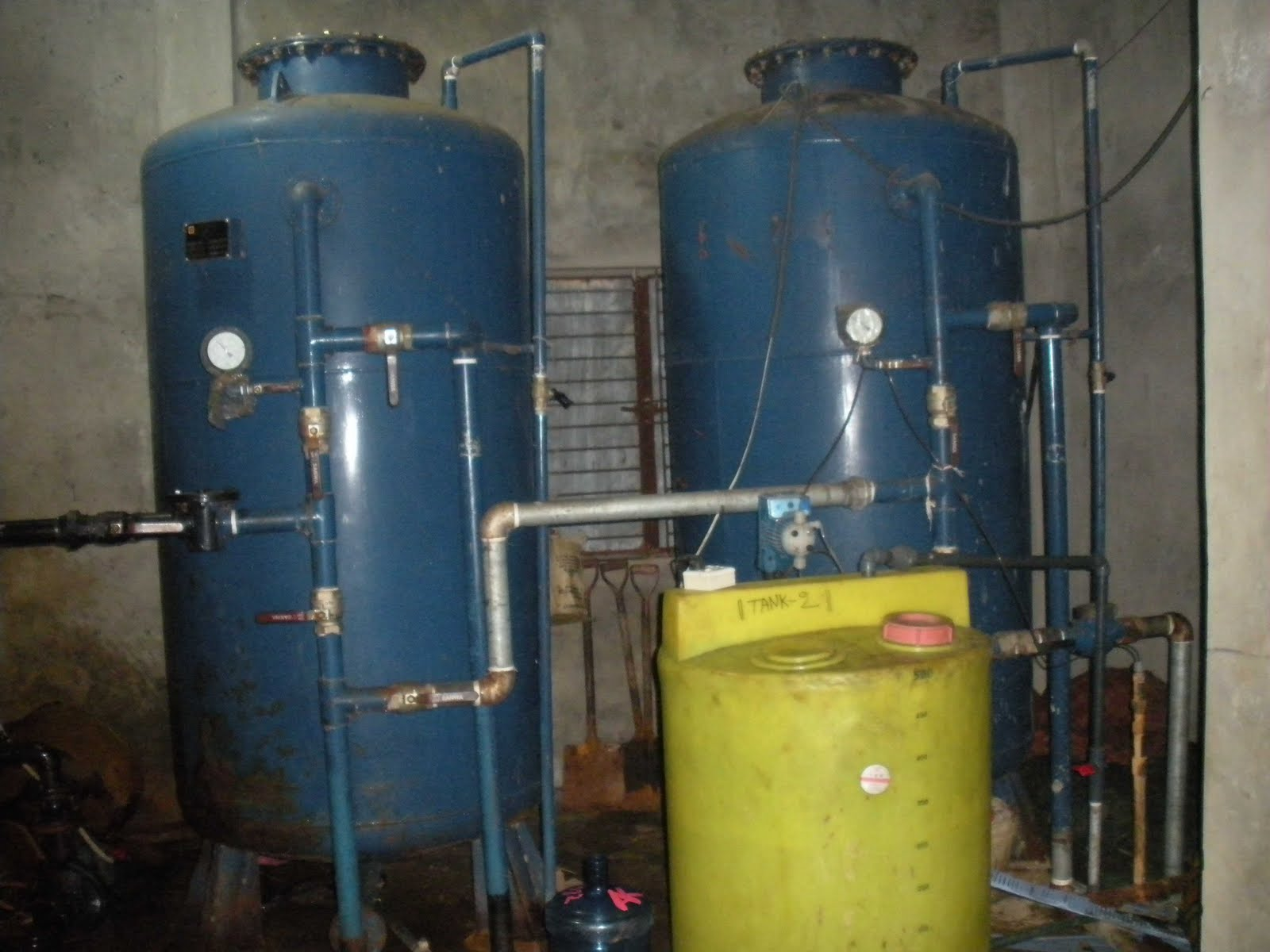 Water Tank Remediation : Water treatment process hfo power plant