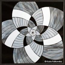 Black and White Petna-Flower