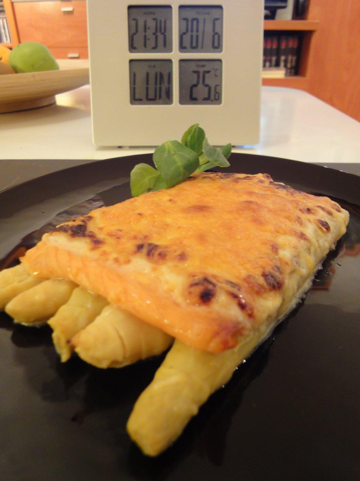 Clases de cocina zaragoza esp rragos gratidados con salm n - Cursos de cocina zaragoza ...