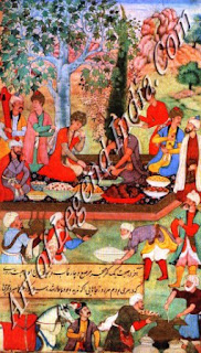Babur Enjoying a Feast Ginen by the Mirzas at Herat