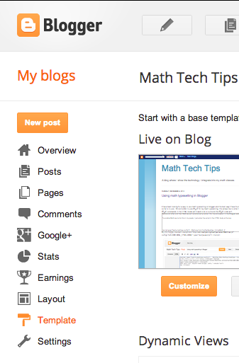 Math Tech Tips: Creating a post template in Blogger to allow for ...