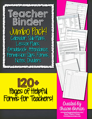 Teacher Binder Jumbo Pack! http://www.teacherspayteachers.com/Product/Teacher-Binder-Jumbo-Pack-Gradebook-Forms-Lesson-Plans-Calendar-749632