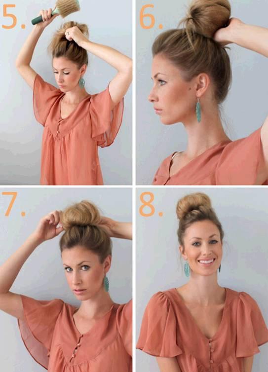 Как сделать два пучка на длинные волосы
