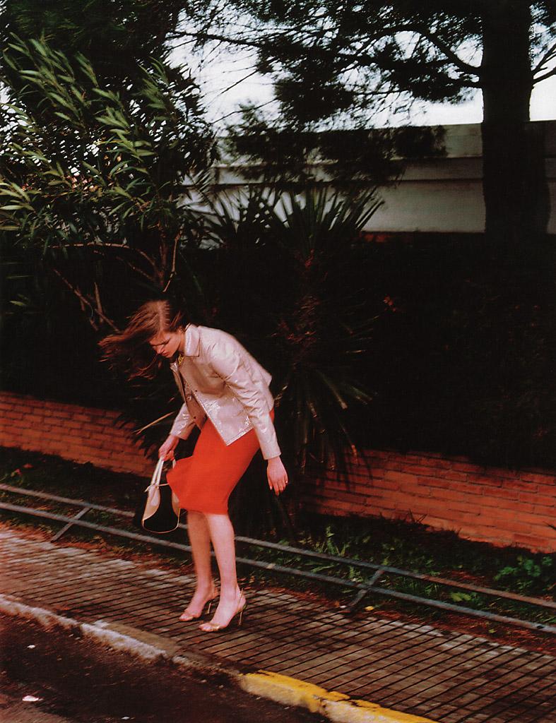 Natalia Vodianova wearing Alberta Ferretti in Marie Claire Italia March 2001 (photography: Jacques Olivar)