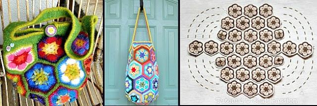 crochetingclub: african flower granny. 4, 5, 6, 8 petals