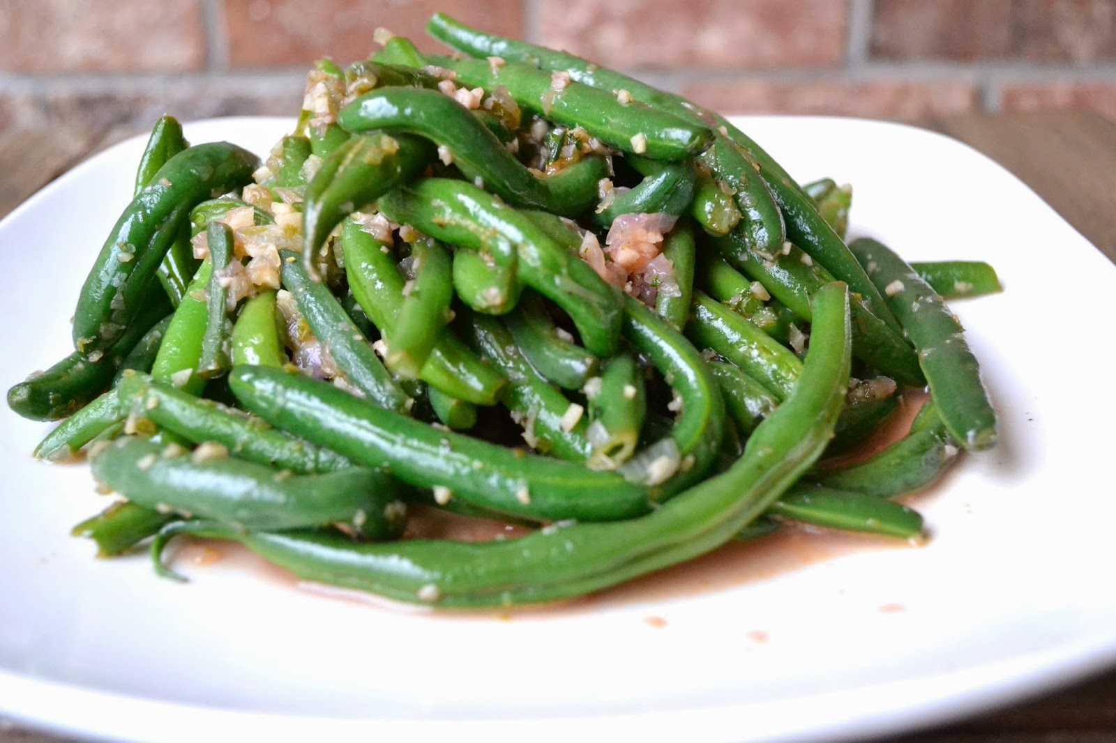 lime garlic mint green beans
