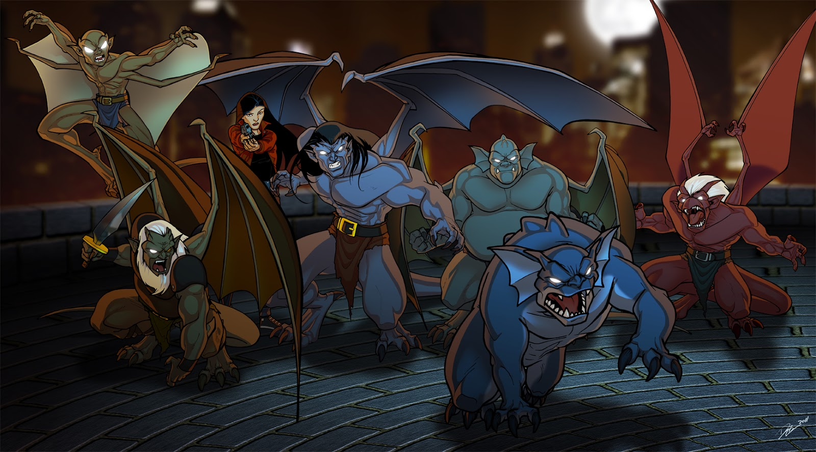 Well  it   s either that or they manage to turn their bodies into huge    Gargoyles Disney Characters