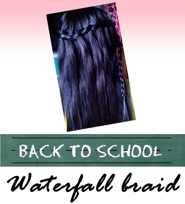 Back To School Hairstyle Waterfall Braid Miss Princess Diaries