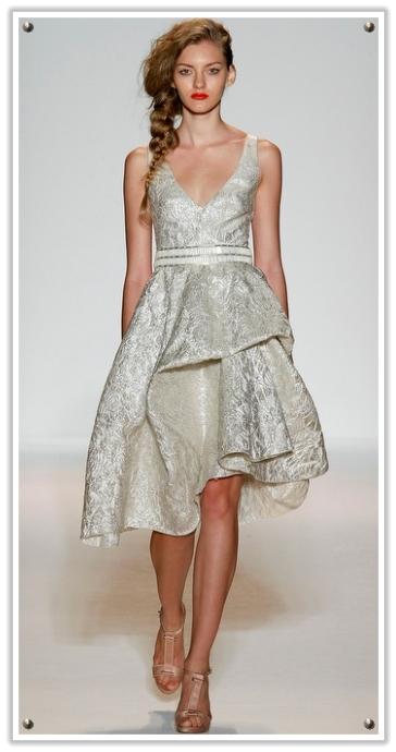 Brocade Style Vintage Inspired Wedding Dress 1920 vintage wedding dresses