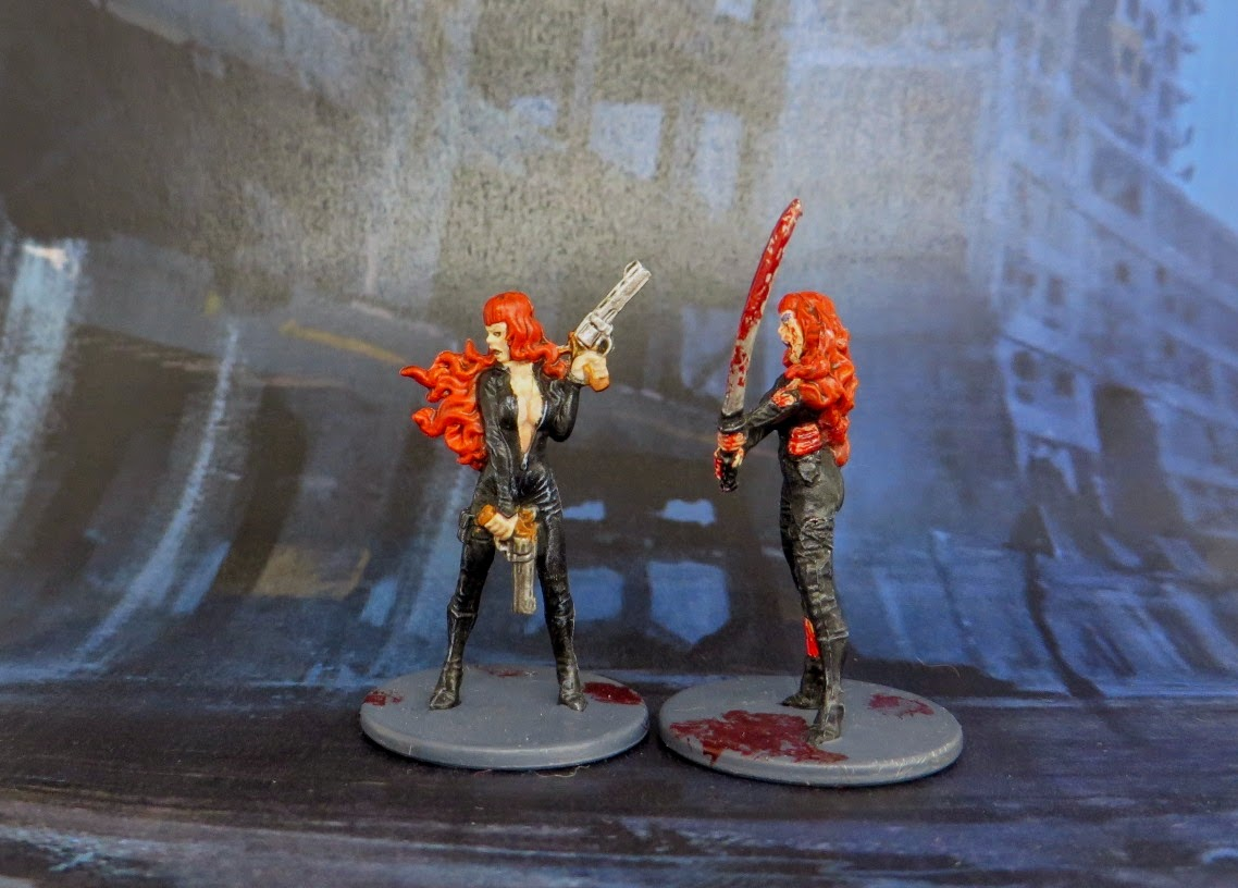 Elsa, Cat-Burglar, Zombicide, Survivor, game, Zombivore, painted, latex, zombie