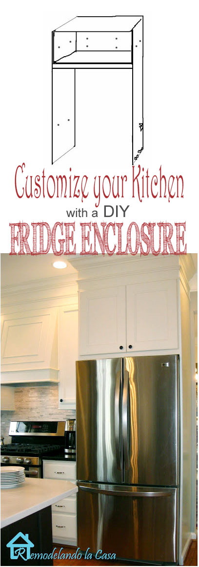 diy refrigerator enclosure and lots of tutorials on how to improve your kitchen