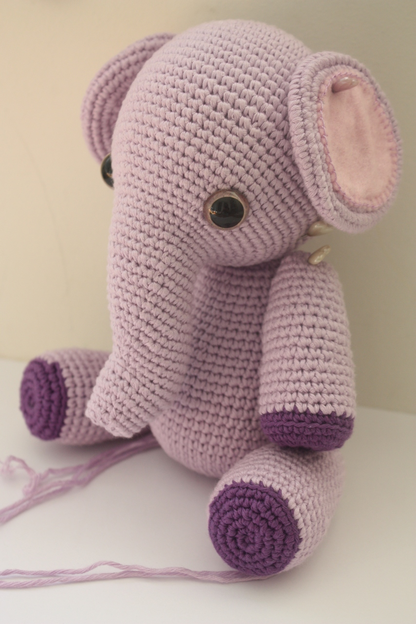HAPPYAMIGURUMI: Amigurumi Elephant Pattern in Process