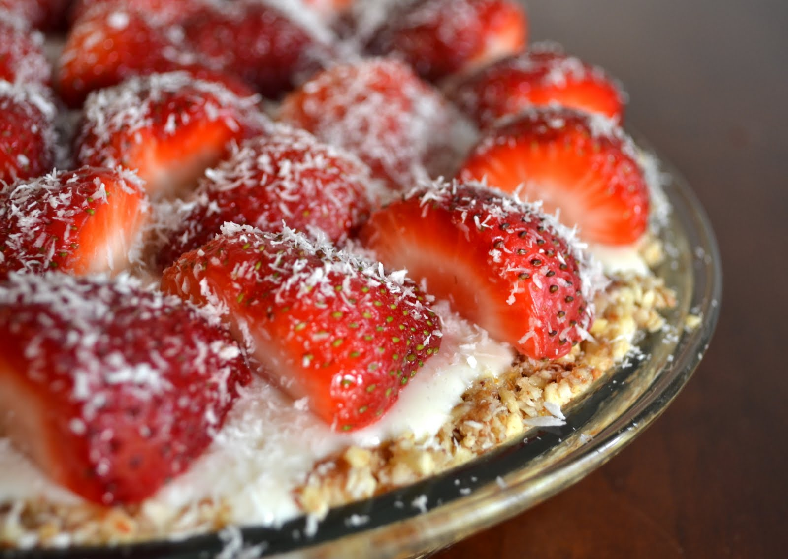 Veggies For Real: No-Bake Strawberry Coconut Cream Pie