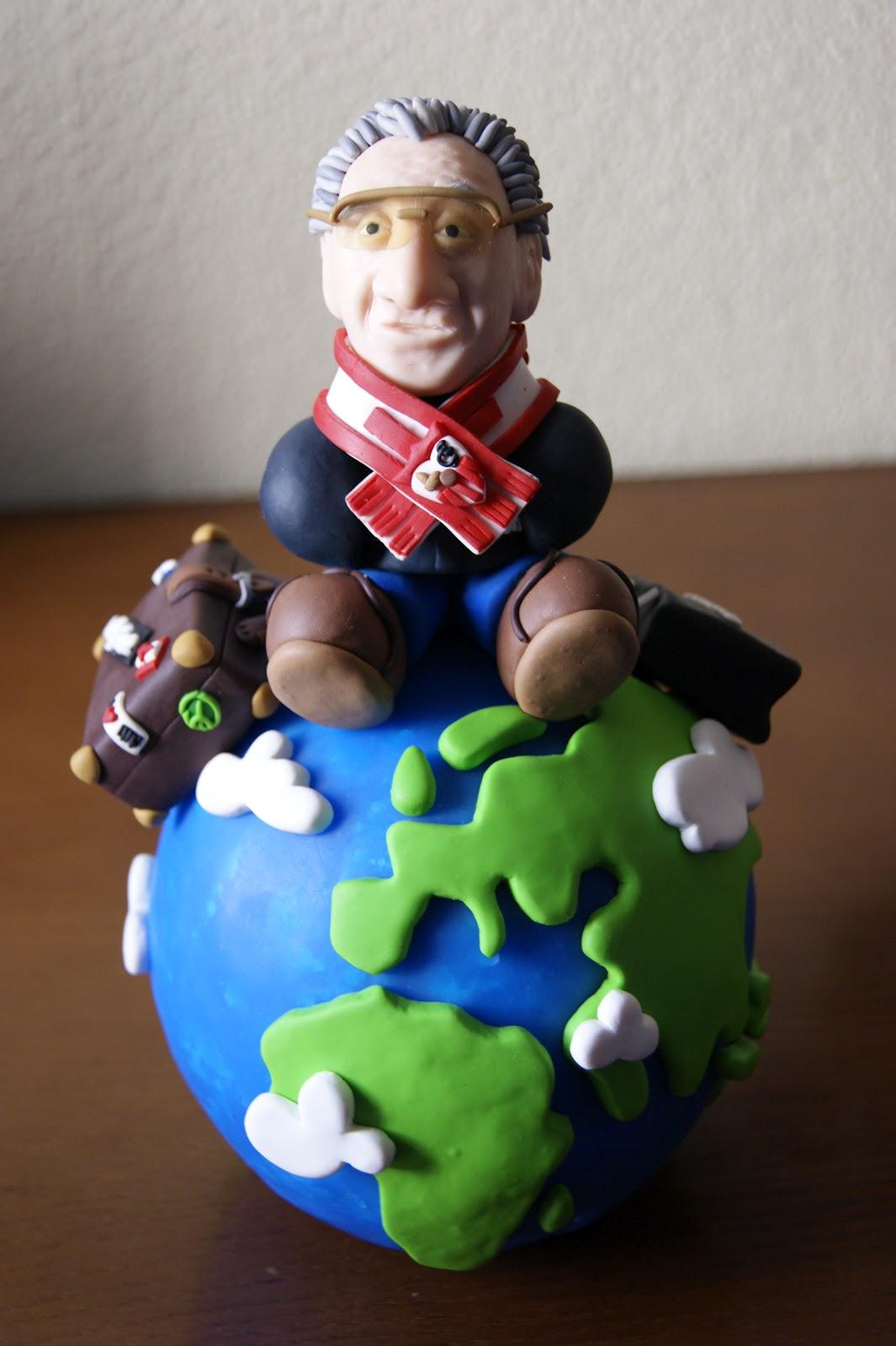 Fimoteando figura fimo hombre y bola del mundo - Bola del mundo decoracion ...