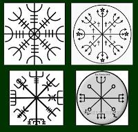 Símbolos vikings e umbandistas