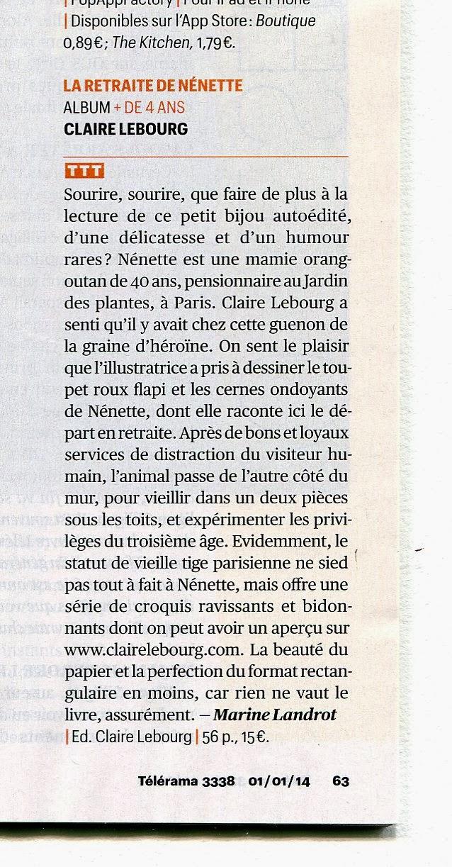Claire Lebourg Retraite de Nénette